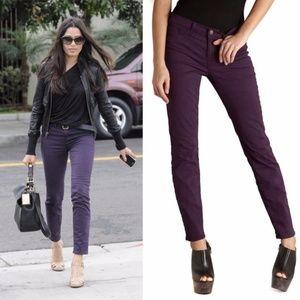 J Brand Skinny Leg Jeans Aubergine Purple Jegging